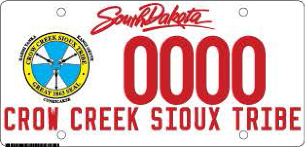 Crow Creek Sioux Tribe Plate