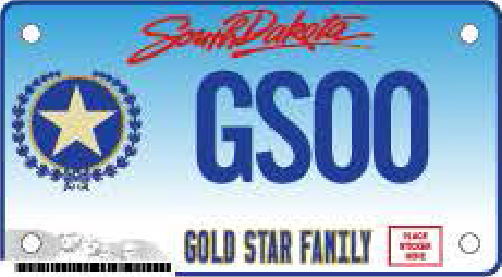 Gold Star Motorcycle Plate