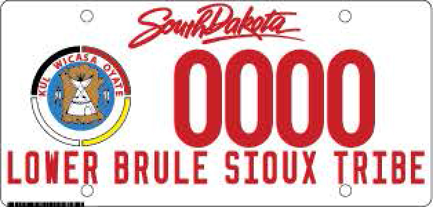 Lower Brule Sioux Tribe Plate