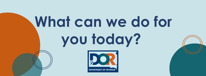 South Dakota Department of Revenue - What Can We Do For You Today?
