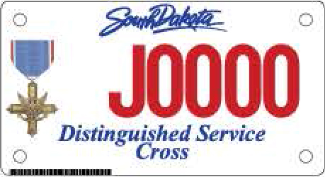 Distinguished Service Cross Motorcycle Plate